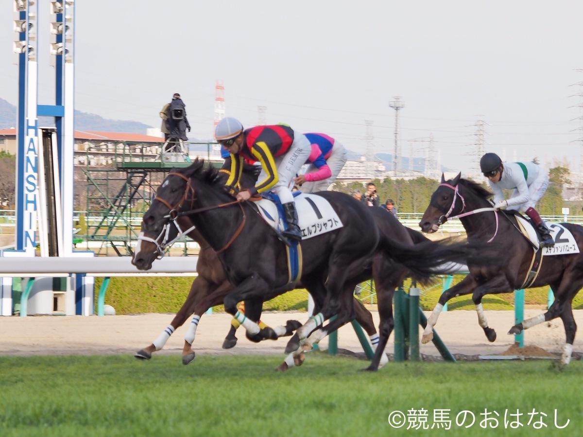 【阪神6R/2歳新馬】クロフネ産駒、メイショウコゴミが大外から強襲