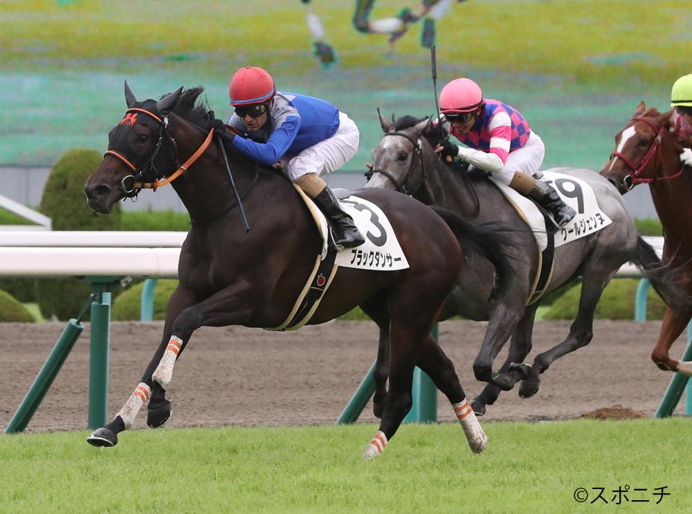 【阪神6R/2歳新馬】ブラックタイド産駒 ブラックダンサーが抜け出す