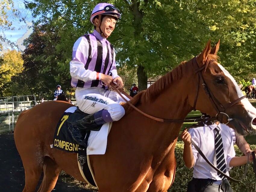 武豊騎手がフランスのコンピエーニュ競馬場で勝利!トーセンハーディで逃げ切りV