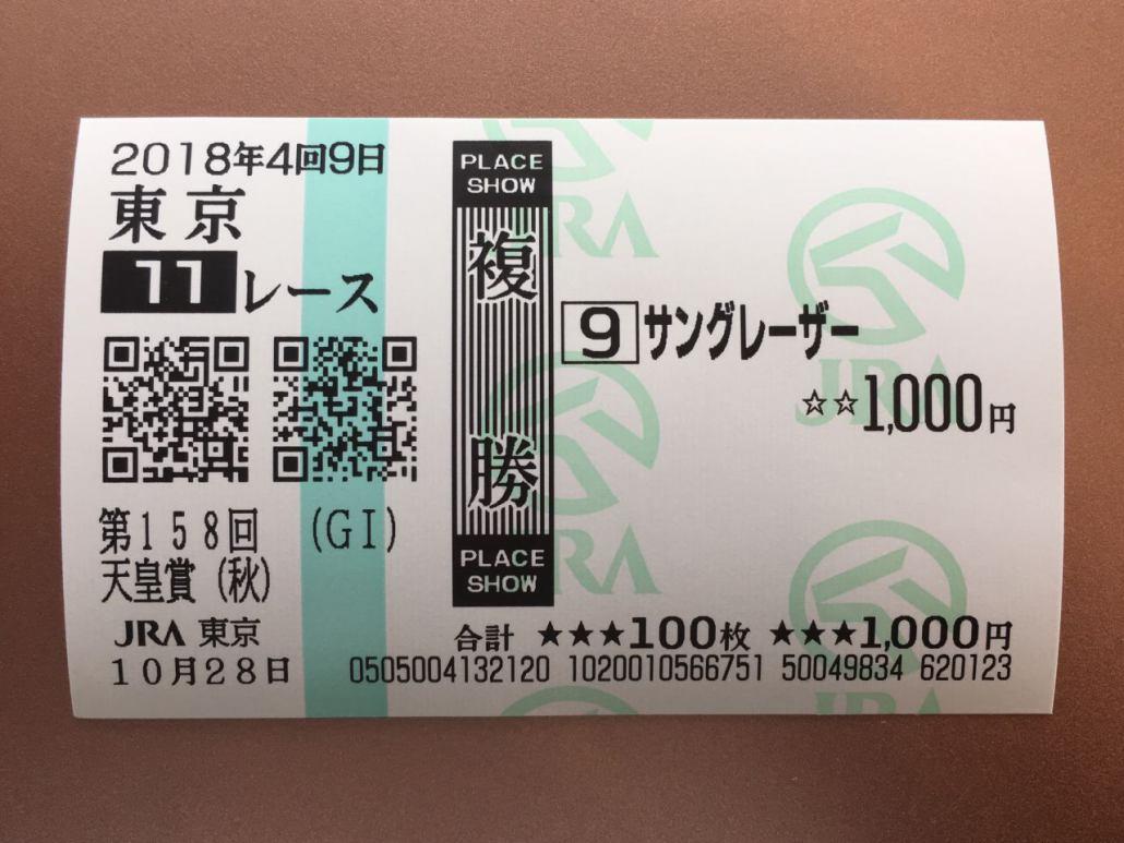 目指せ5万円!複勝転がし【天皇賞・秋】