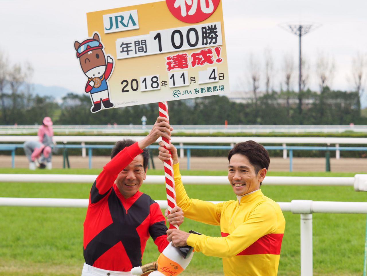 戸崎圭太が年間100勝達成!レジェンド的場文男騎手もお祝いのコメント