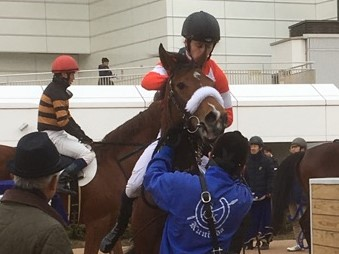 日曜中山6R新馬はディープインパクト産駒のレッドアステルがV