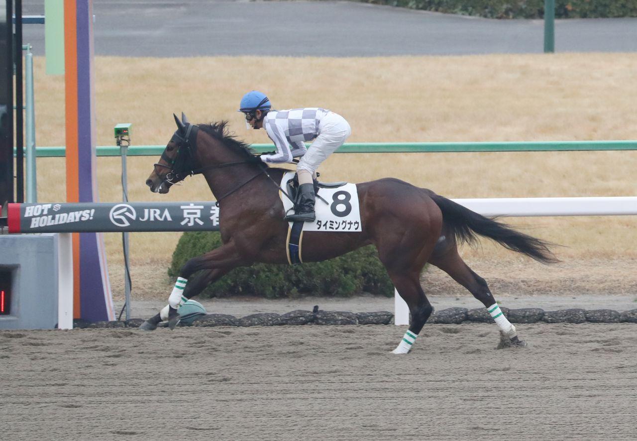 【京都4R/新馬戦】木梨憲武命名 タイミングナウが楽勝