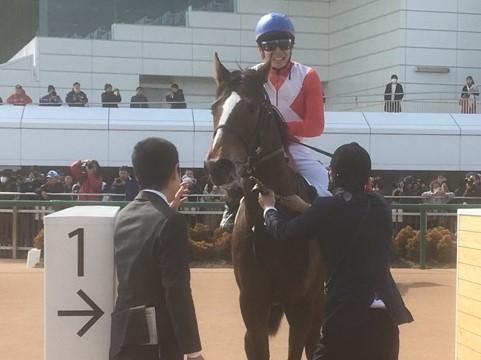 日曜中山4R新馬はアッシャムスが1番人気にこたえる