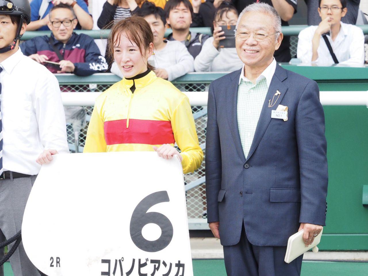 【福島2R】菜七子「距離合ってる」藤田菜七子が凱旋V!コパノビアンカで快勝!