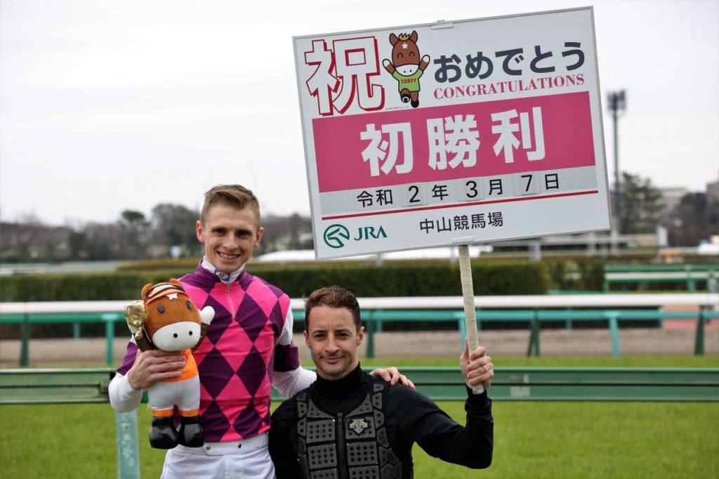 L.ヒューイットソン騎手 JRA初勝利!