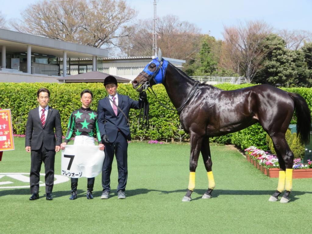 日曜中山6R新馬はプレシオーソがV。北村宏は通算1万5000回騎乗を達成