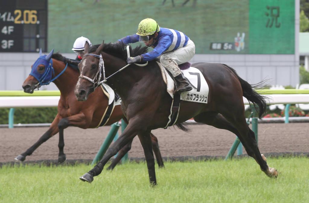 【新馬/福島5R】8番人気の伏兵 カガフラッシュがデビューV!