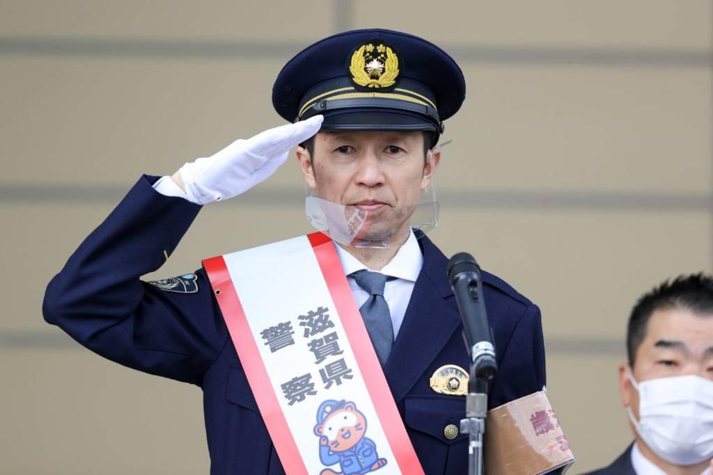 武豊騎手が滋賀県警歳末特別警戒本部長に就任