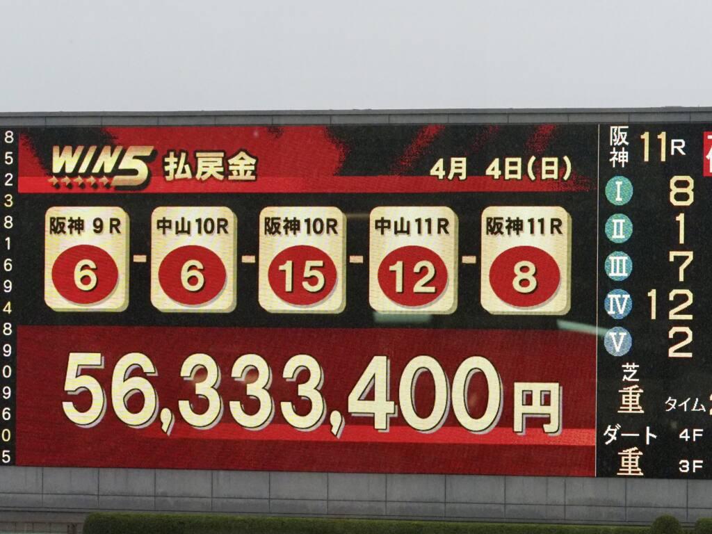WIN5は5000万円超え!コントレイル敗れる波乱