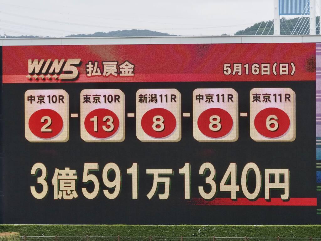 WIN5は僅か2票、3億超え!